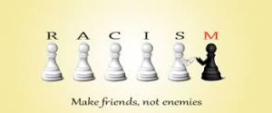 chess pieces make friends not enemies racism