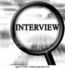 interview in magnifying glass