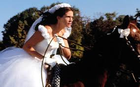 bride on horseback