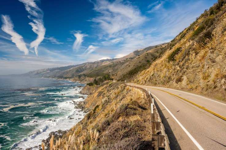 Highway 1 on the pacific coast, California, USA.